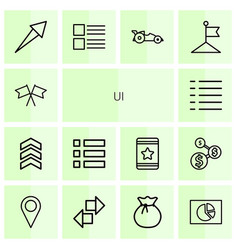 14 ui icons vector