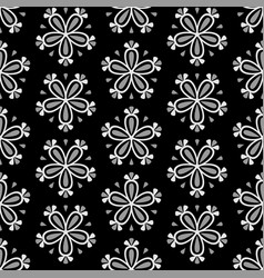 abstract seamless floral pattern with white flower vector image