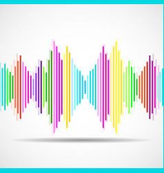 abstract technology background with as equalizer vector image