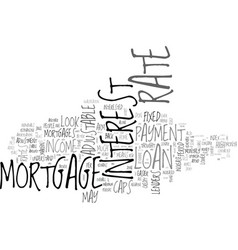 adjustable rate mortgages this home mortgage loan vector image