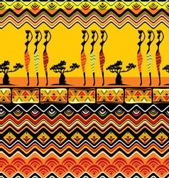 afrikan pattern seamless vector image