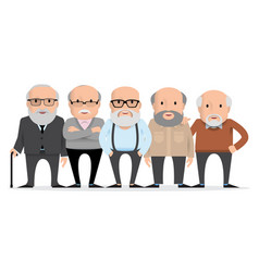 aged people a group of old people vector image