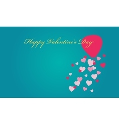 Air balloon with love valentine backgrounds vector