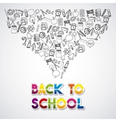 Back to school set supplies icon vector