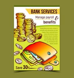 bank services financial advertising banner vector image
