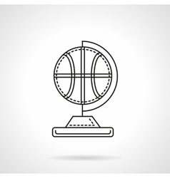 Basketball souvenir flat line icon vector