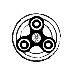 black and white circle spinner fidget spinner vector image