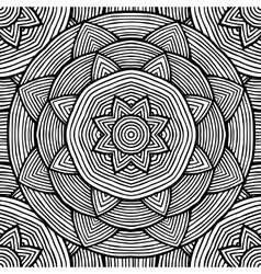 Black and white ethnic pattern for coloring vector