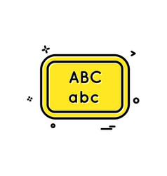 board school write icon design vector image