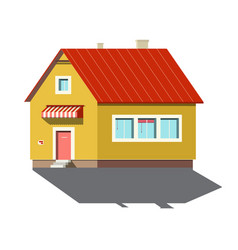 building symbol family house icon isolated on vector image