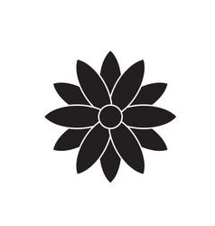 Calendula black concept icon calendula vector