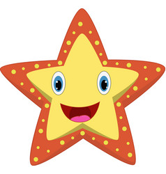 cartoon happy starfish vector image