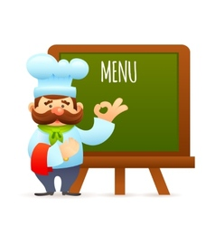 Chef With Menu Board vector