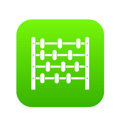 children abacus icon digital green vector image