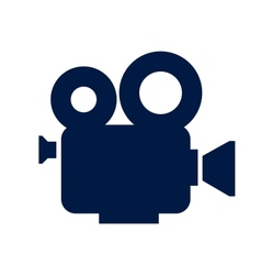 Cinema camera icon vector