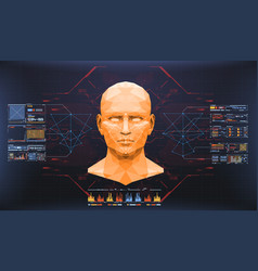 Concept of face scanning accurate facial vector