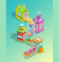Confectionery factory concept vector