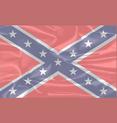 Confederate silk flag vector