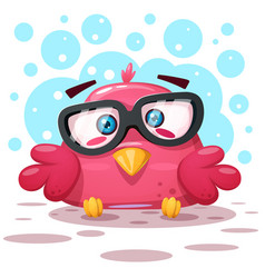 cute bird cartoon characters vector image