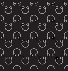 Dark circular barbells horseshoe seamless vector