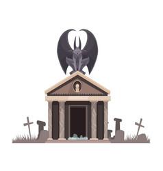 Dark evil with spread wings vector