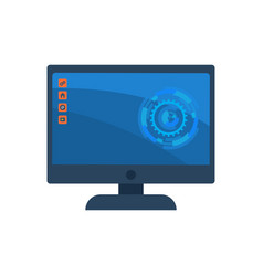 desktop computer screen with colorful icons vector image