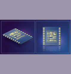 esim card chip sign embedded esim concept vector image