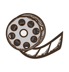 Film tape reel icon image vector