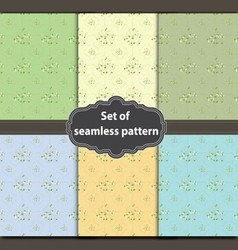 Flower abstract pattern vector