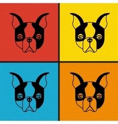 french bulldog design vector image