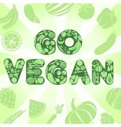 Go vegan poster vector