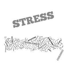 Good stress bad stress text background word cloud vector