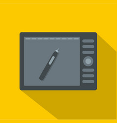 graphics tablet icon flat style vector image