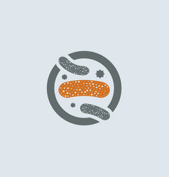 gray-orange lactobacillus round icon vector image