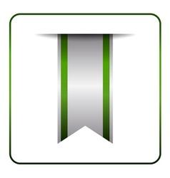 Green book mark label vector