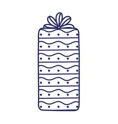 happy birthday gift box ribbon decoration vector image