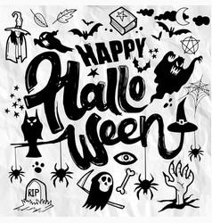Happy halloween hand drawn doodle vector