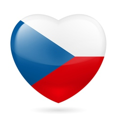 Heart icon of Czech Republic vector image