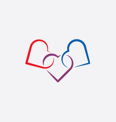 Heart link icon symbol vector