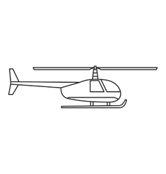 Helicopter icon outline style vector