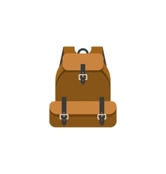 Hiking backpack isolated flat vector