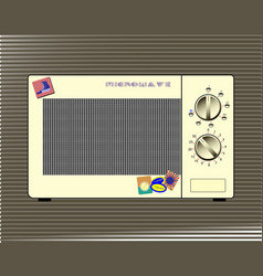 home microwave oven vector image