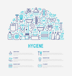 hygiene concept in half circle with thin line icon vector image