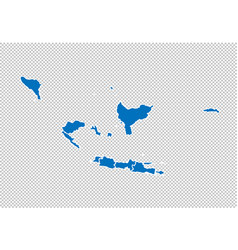 Indonesia map - high detailed blue map vector