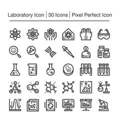 laboratory line icon vector image