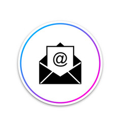 mail and e-mail icon isolated on white background vector image
