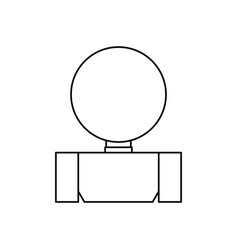 man back cartoon vector image