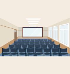 Modern meeting conference presentation room vector