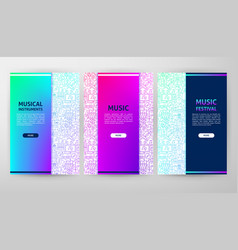 Music brochure web design vector