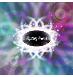 Mystic shiny card with ornament and color vector